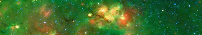 Nebula in the Galactic plane of the Milky Way (image credit Spitzer Space Telescope)